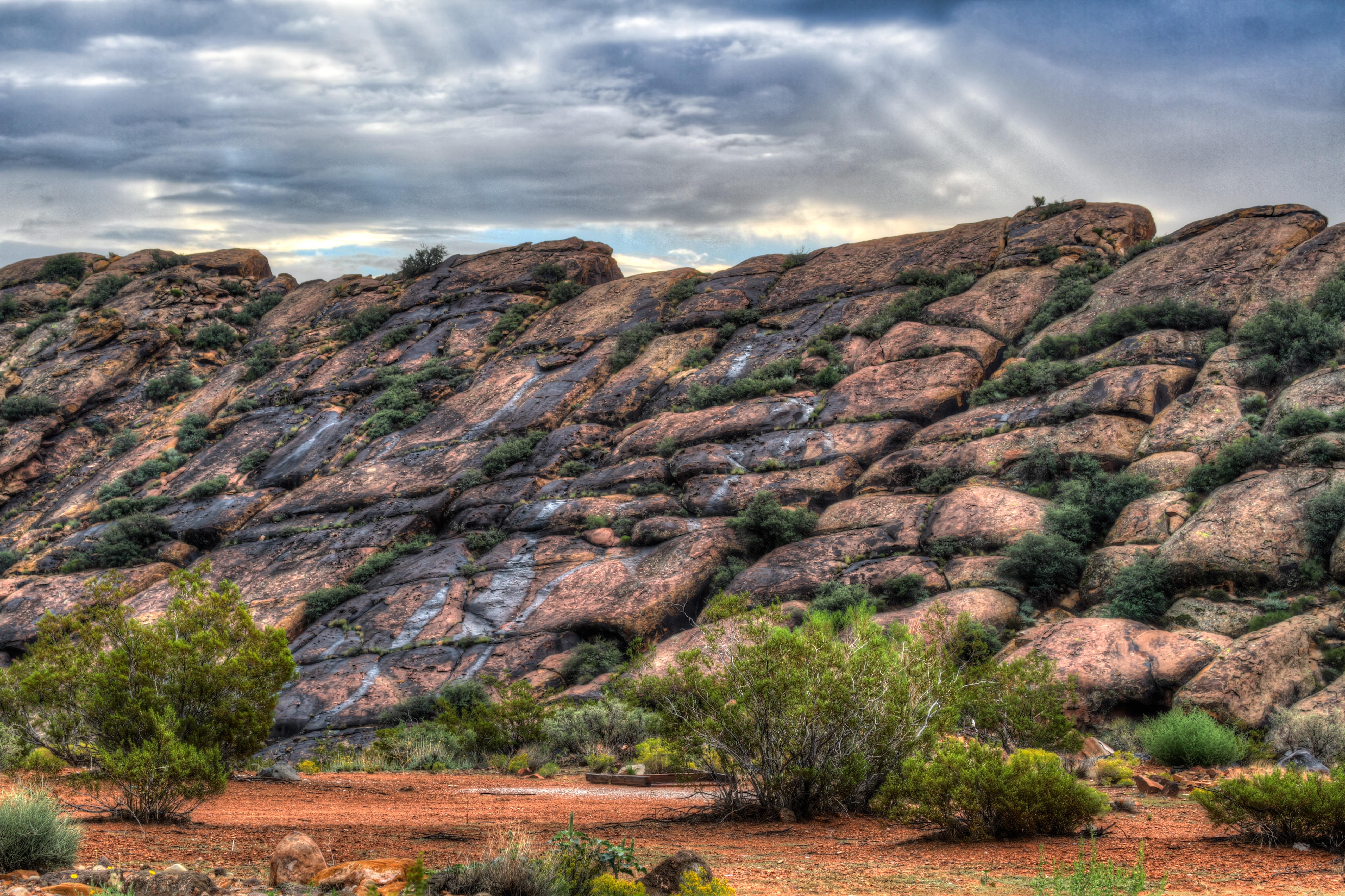 Rain on Rocks photo