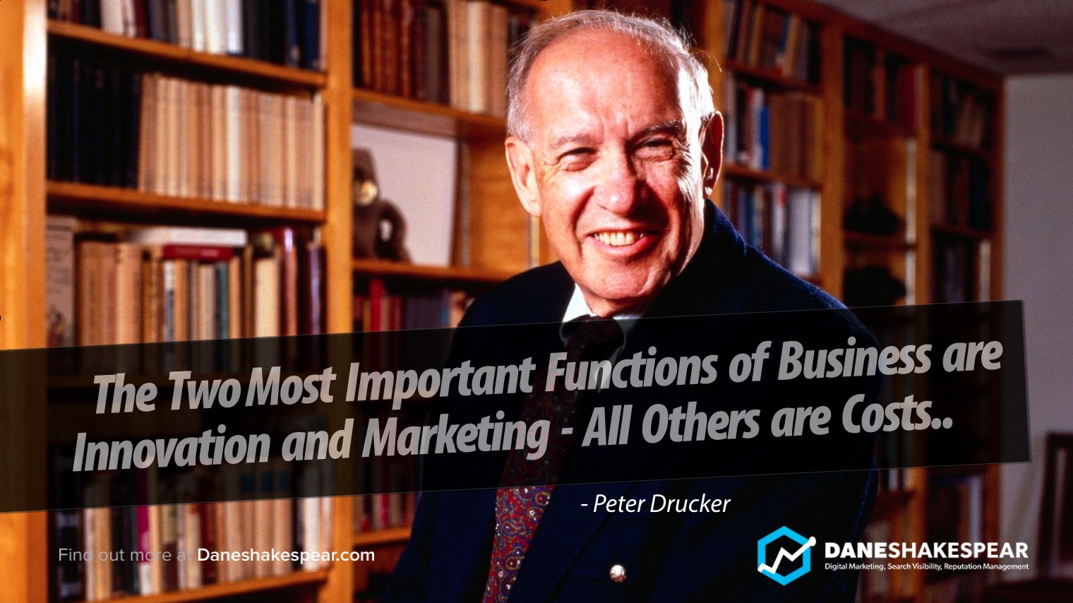 Peter Drucker Quote - Dane Shakespear Marketing