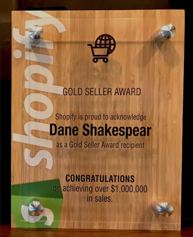 Dane Shakespear Shopify Awards