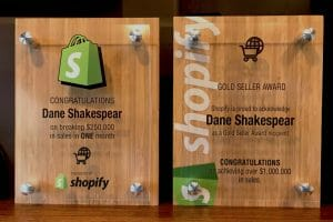 Dane Shakespear Shopify Awards